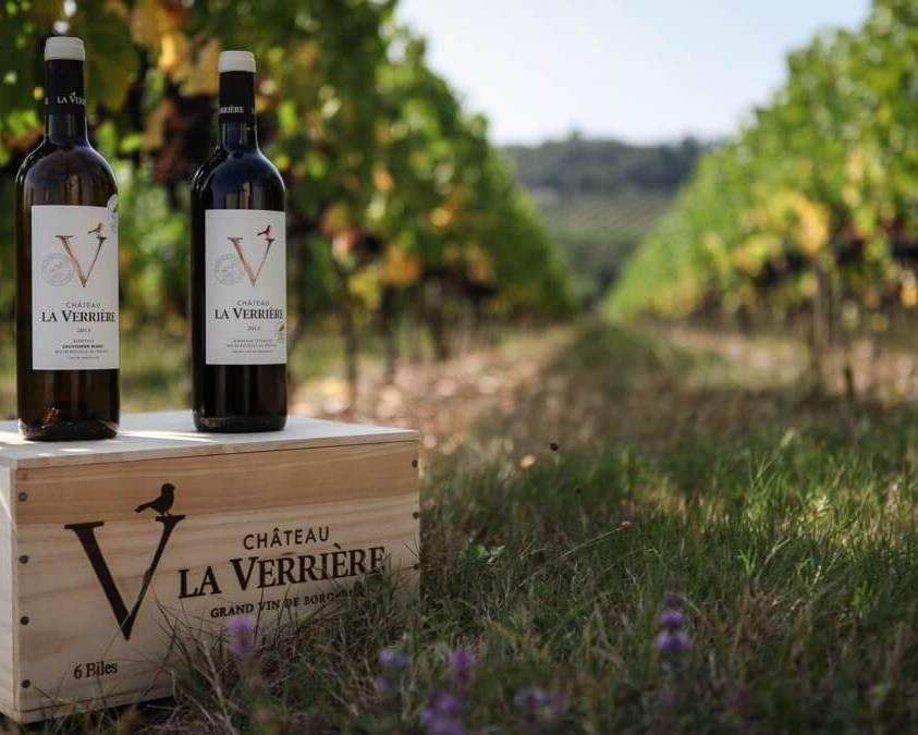 Wines in the Vineyards at Chateau La Verriere