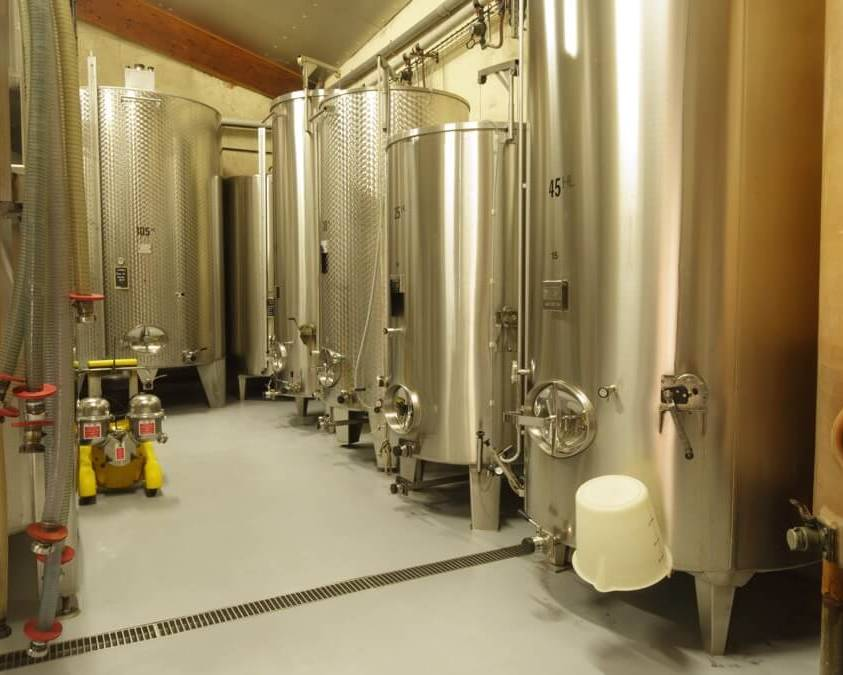 Stainless Steel Tanks at Domaine Gibert Picq